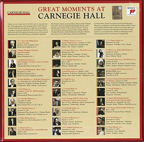 Carnegie Hall, Bernstein, Levine, Stern, Menuhin, New York, Fischer Dieskau, Horowitz, Serkin, Kissin, Price, Horne, von Stade