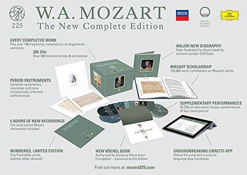Mozart, 225, complete edition,